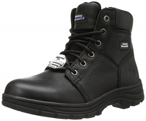 LEATHER SAFETY BOOTS,STEEL TOE CAP BOOTS PADDED ANKLE NAIL PROOF STEEL MIDSOLE